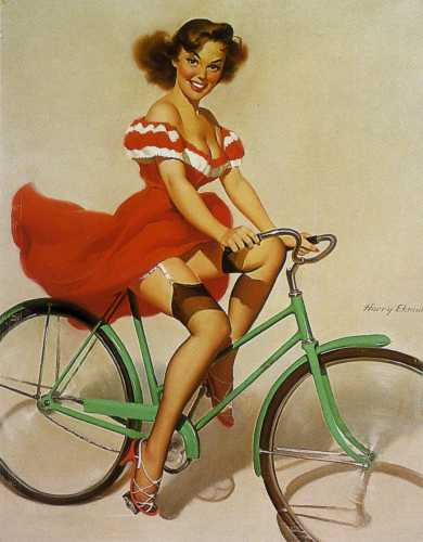 Bike Pin Up Girl