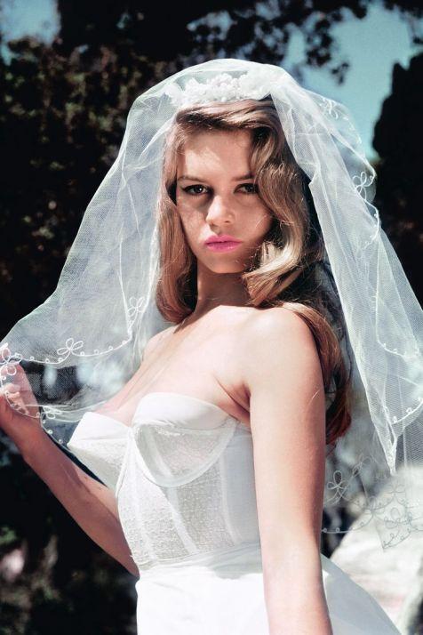 brigitte bardot brunette pin up bride