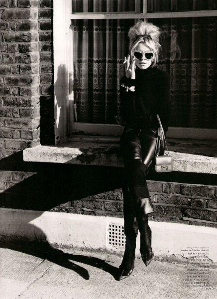 brigitte bardot city all black - sunglasses - smoking - style