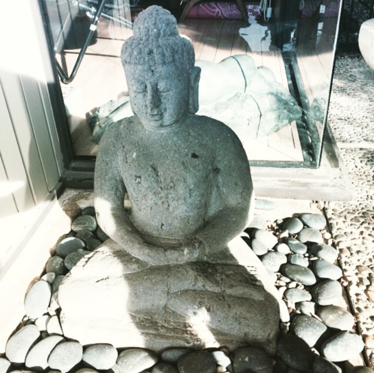 keenan evans - interior home inspiration - buddah statue - outdoors
